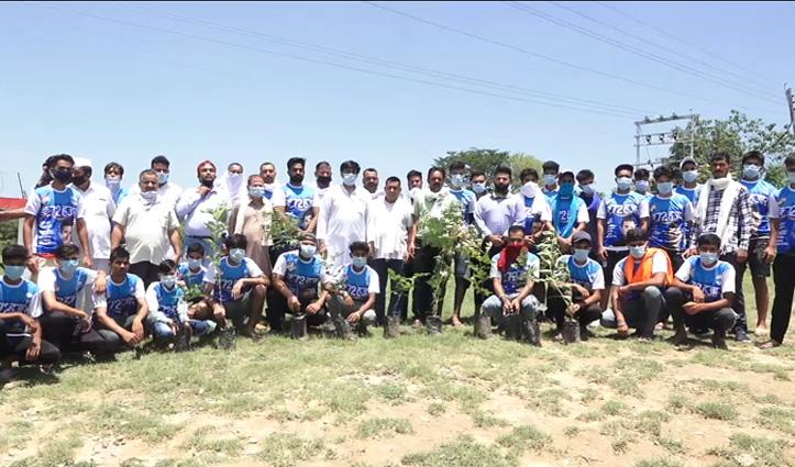 कुटलैहड़ ब्लॉक Congress ने लगाए छायादार पौधे, महादेव मंदिर में उगी झाड़ियां भी की साफ