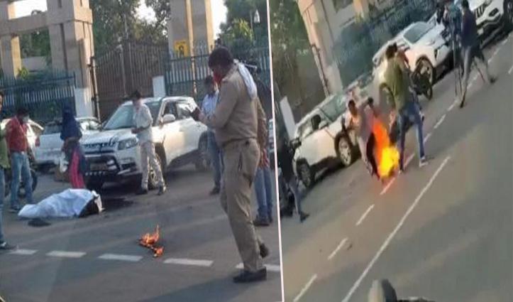 मां-बेटी ने CM योगी के ऑफिस के बाहर किया आत्मदाह: कांग्रेस नेता समेत 4 पर FIR