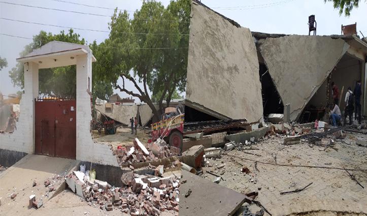 कानपुर Encounter कांड: जिस JCB से पुलिस को रोका, उसी से ढहाया गया विकास दुबे का घर
