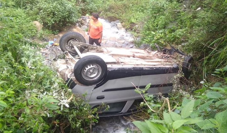 बनीखेत-खैरी मार्ग पर खाई में गिरी Car, एक व्यक्ति की गई जान