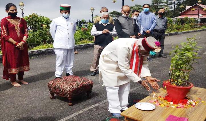 राज्यपाल ने प्रकृति वंदन दिवस पर की पूजा
