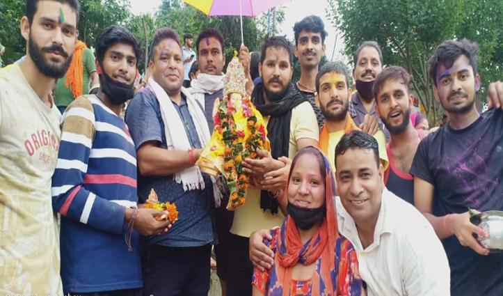 शिव मंदिर बल्ला कमेटी ने किया गणपति का विसर्जन