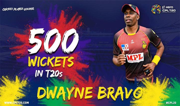 T-20 क्रिकेट में 500 विकेट लेने वाले पहले Bowler बने ब्रावो, दूसरे नंबर वाले ने लिए हैं 390