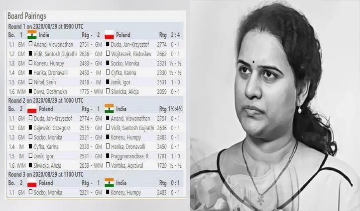 इतिहास में पहली बार #Chess_Olympiad के फाइनल में पहुंचा भारत