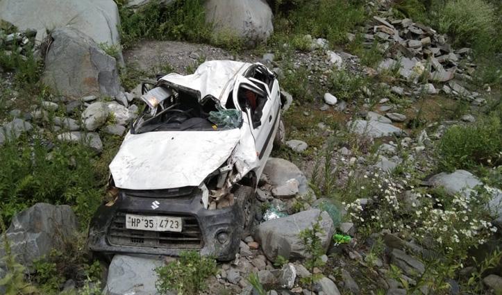 Anni के राणाबाग में खाई में समाई Car, दो की गई जान