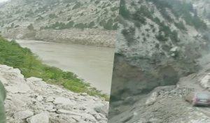 Kinnaur की केरग खड्ड में आई बाढ़ से पुल बहा, सड़क मार्ग हुआ अवरुद्ध