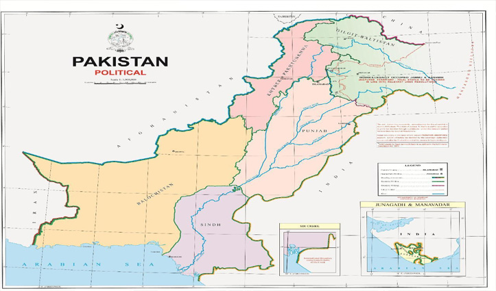 नेपाल के बाद Pakistan ने जारी किया नया नक्शा: कश्मीर-लद्दाख और जूनागढ़ पर ठोंका दावा