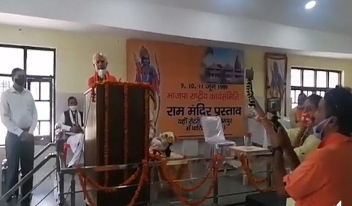 राम मंदिर में राजनीति का कोई सवाल नहीं, मुझे खुशी है कि वहां मस्जिद भी बन रही: शांता कुमार