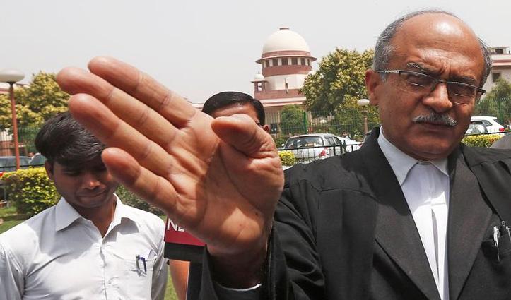 अवमानना मामला : #SC ने प्रशांत भूषण पर लगाया एक रुपए जुर्माना, नहीं चुकाया तो होगी 3 माह की जेल