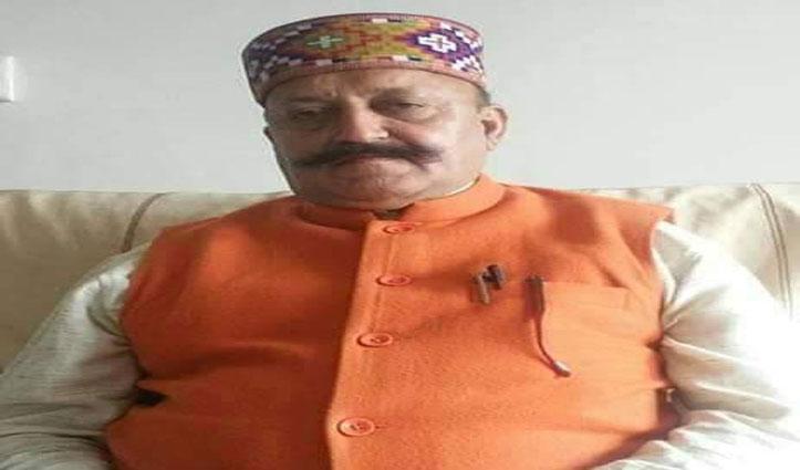 बीजेपी के वरिष्ठ नेता रामप्रकाश पटियाल का निधन, नड्डा- जयराम ने जताया शोक