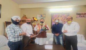 सुरेश भारद्वाज से मिले शिमला के प्रतिनिधिमंडल