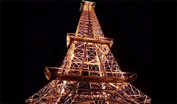 बेटे को थी Wi-fi Signal की प्रॉब्लम, बाप ने छत पर खड़ा कर दिया Eiffel Tower