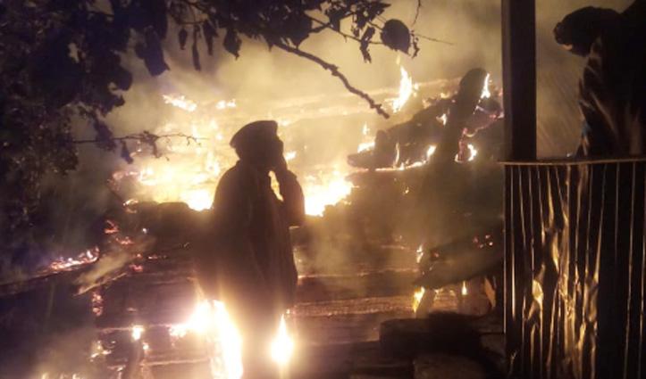 #Shimla : दो मंजिला मकान में भड़की आग, जलकर हुआ राख, लाखों का नुकसान