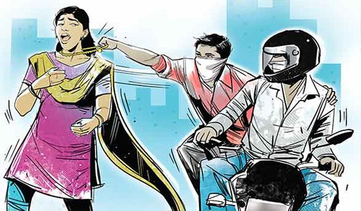 Solan: घर के बाहर घूम रही महिला के गले से उड़ाई ढाई तोले की चेन
