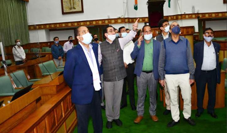 CM Jai Ram ने किया विधानसभा सचिवालय का दौरा, #Monsoon_session के प्रबंधों का लिया जायजा