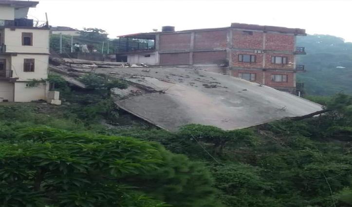 नैनाटिक्कर में ताश के पत्तों की तरह ढह गई तीन मंजिला ईमारत