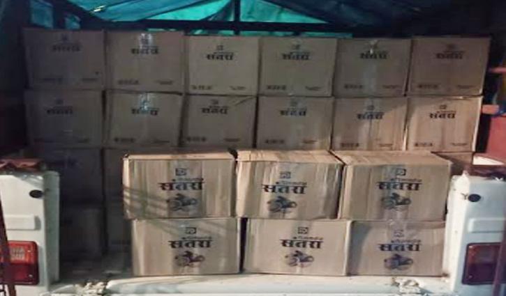 #Solan: रात के अंधेरे में शराब की तस्करी, नाके पर पुलिस ने पकड़ी 148 पेटी
