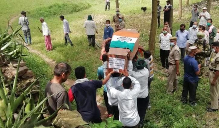 #Himachal का जवान पश्चिम बंगाल में शहीद, राजकीय सम्मान से किया अंतिम संस्कार