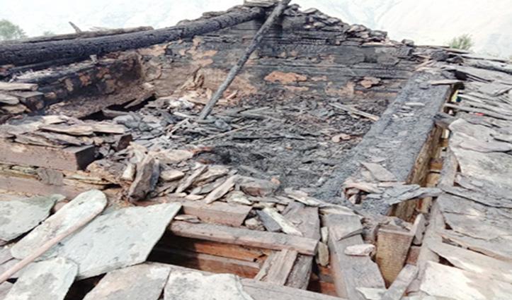 मणिकर्ण घाटी के कुफ़रीधार में 3 भाइयों के मकान में Fire, लाखों का नुकसान