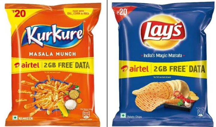 #AirtelUsers की बल्ले-बल्ले : Kurkure-Lay's के पैकेट खरीदो और पाओ 2GB डाटा फ्री