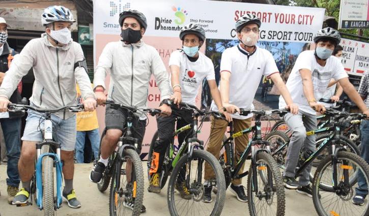 धर्मशाला स्मार्ट सिटीः Fitness व पर्यावरण के संरक्षण के लिए McLeodganj से शुरू हुई साइकिल रैली