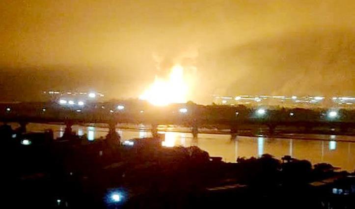 #ONGC_Plant में तीन धमाकों के साथ लगी भीषण आग, आवाज सुनकर दहले लोग