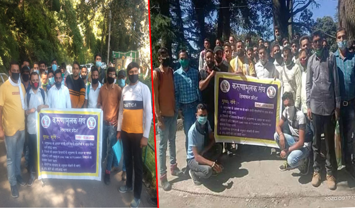 Shimla: विधानसभा के बाहर गरजे करूणामूलक, आय सीमा हटाने के साथ रखी ये मांगें