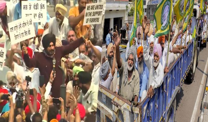 सड़कों पर उतरे Punjab-Haryana के किसान: लंबे ब्रेक के बाद किसानों की आवाज बनकर लौटे सिद्धू
