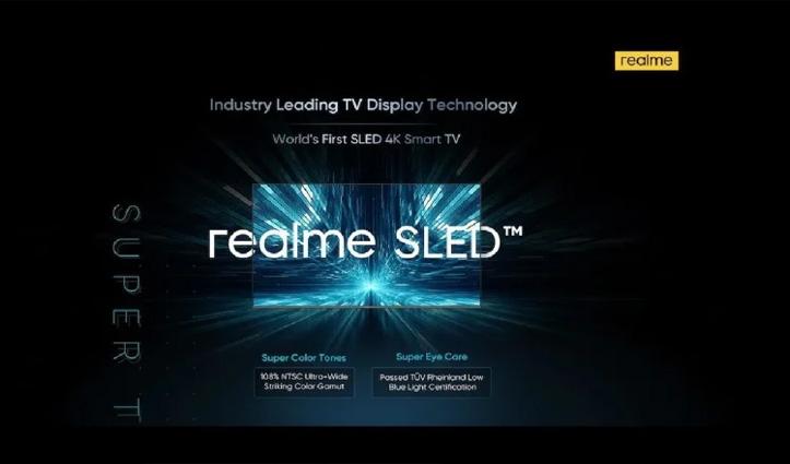 दुनिया की पहली SLED 4K Smart TV पेश करेगी Realme: जानें और क्या होगा खास