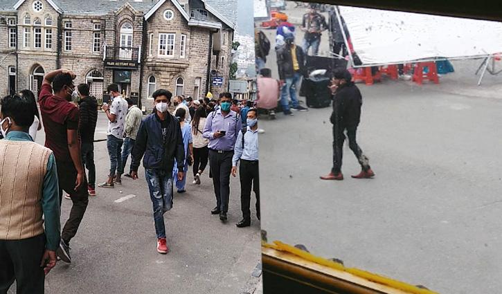 #Shimla: मॉल रोड पर पंजाबी एल्बम की हुई शूटिंग, स्वास्थ्य विभाग के निर्देशों की जमकर उड़ी धज्जियां