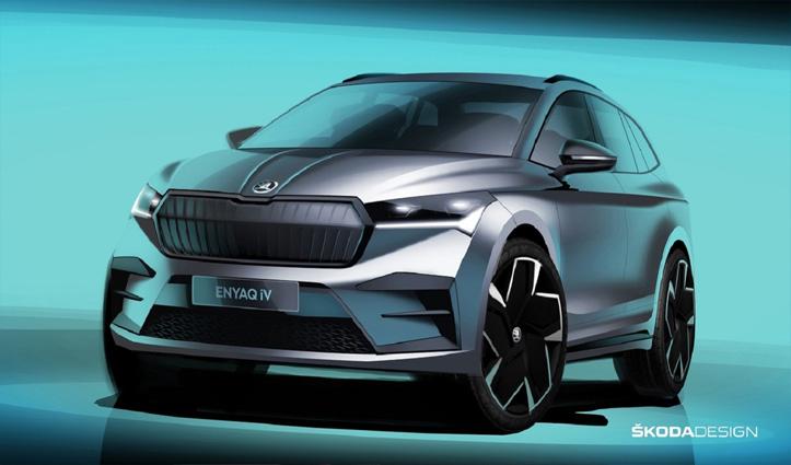 Skoda की Enyaq iV इलेक्ट्रिक SUV हुई पेश: सिंगल चार्ज में चलेगी 510 km
