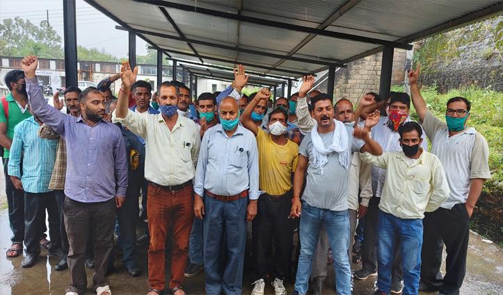 2 महीने से नहीं मिली Salary,गुस्साए BBMB के कर्मियों ने किया प्रदर्शन
