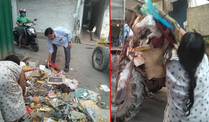 नगर परिषद सुंदरनगर के सफाई कर्मचारियों की दादागिरी, चौराहे पर कूड़ा उठवाकर डलवाया गाड़ी में