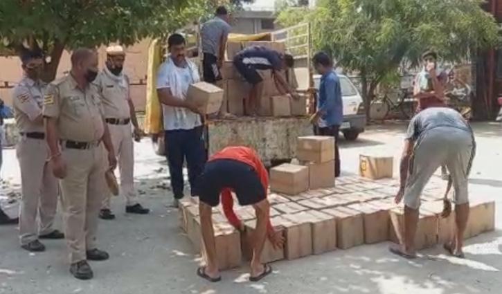 #Una: गगरेट में दिन के उजाले में शराब की तस्करी, देसी शराब की 200 पेटी सहित एक Arrest