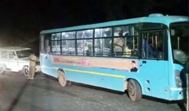 #HRTC चालक पर नशे में Bus चलाने का आरोप, पुलिस चौकी से भागा