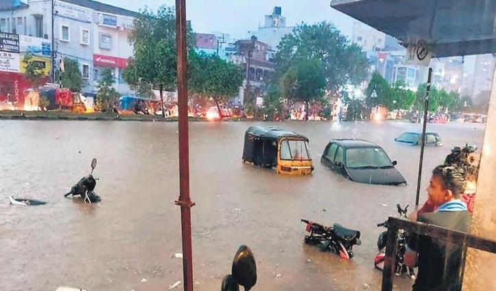 #Hyderabad में बारिश का कहर : 11 लोगों की गई जान, परीक्षाएं भी टलीं