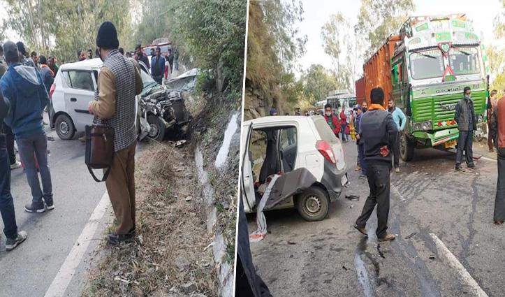 कुमारसेन में Car accident: एक की गई जान, तीन घायल