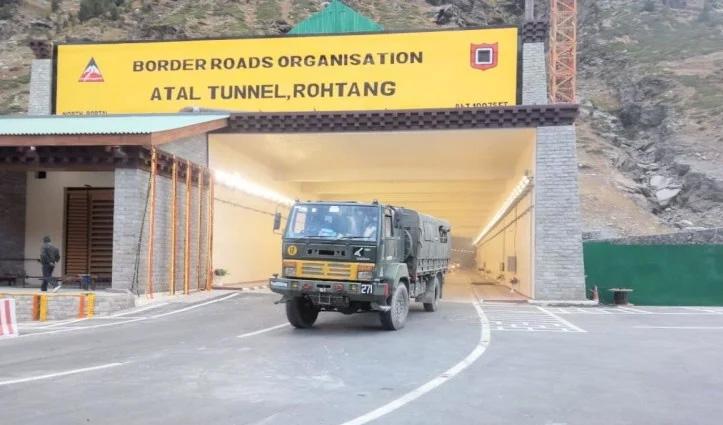 Atal Tunnel Rohtang: उद्घाटन के साथ ही पहले दिन सैकड़ों वाहनों ने आर-पार की टनल