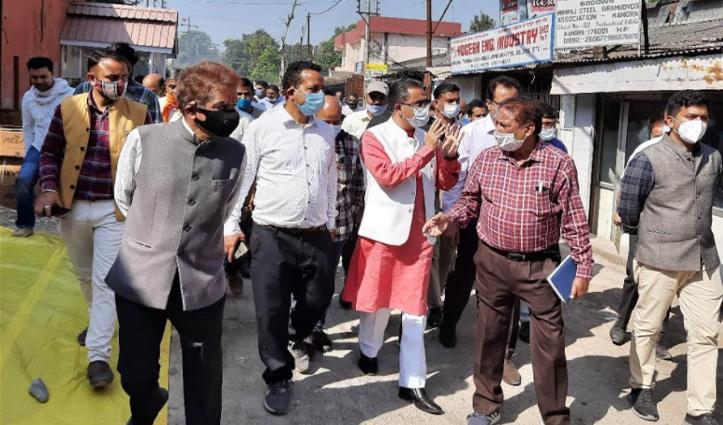 कांगड़ा औद्योगिक क्षेत्र का औचक निरीक्षण