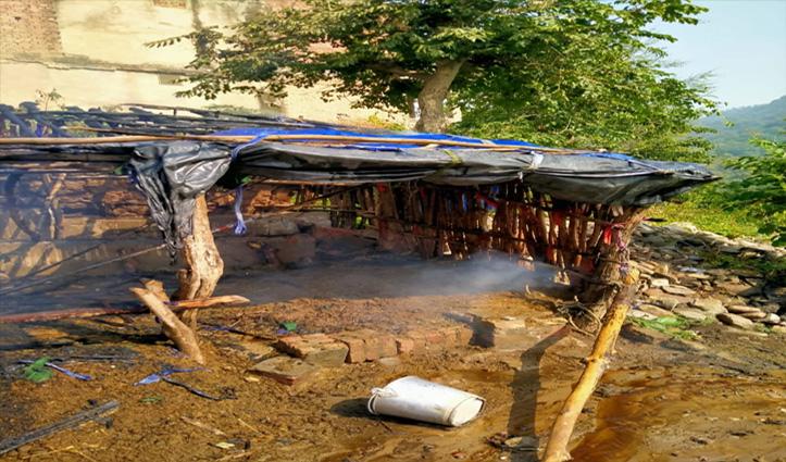 Sirmaur: त्रिलोकपुर में गौशाला में आग से झुलसे दो मवेशी, एक की मौत