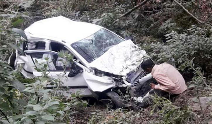 Chamba में बड़ा सड़क हादसा, खाई में गिरी Car; चार लोगों की गई जान-एक घायल