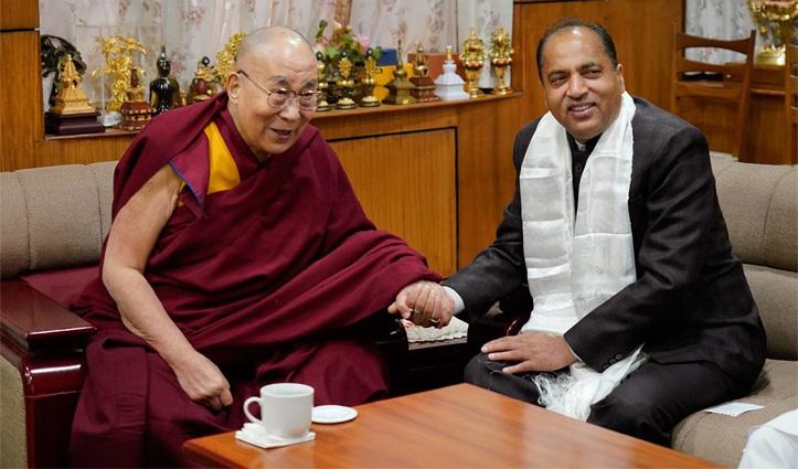 तिब्बती धर्मगुरू दलाई लामा ने भेजा संदेश,  CM Jairam Thakurके शीघ्र स्वास्थ्य लाभ की कामना की