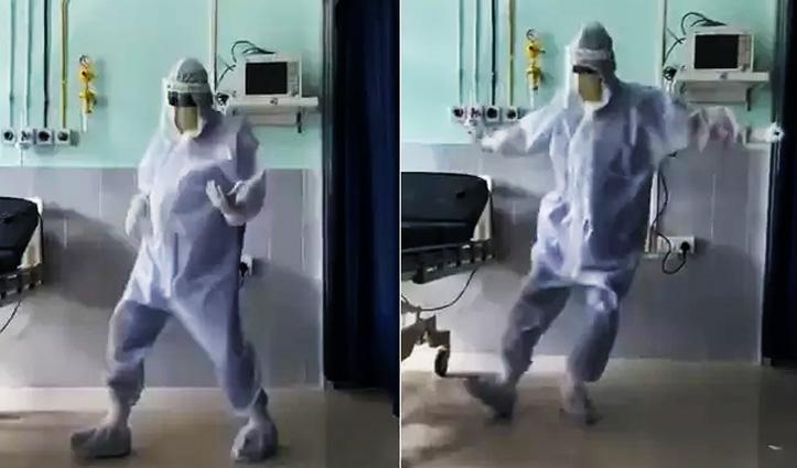 #Video : कोरोना मरीजों को खुश करने के लिए डॉक्टर ने PPE Kit पहनकर किया जबरदस्त डांस