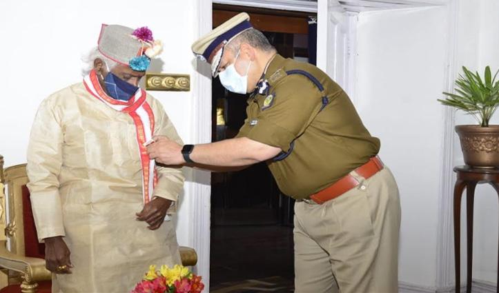 DGP ने राज्यपाल से मुलाकात की