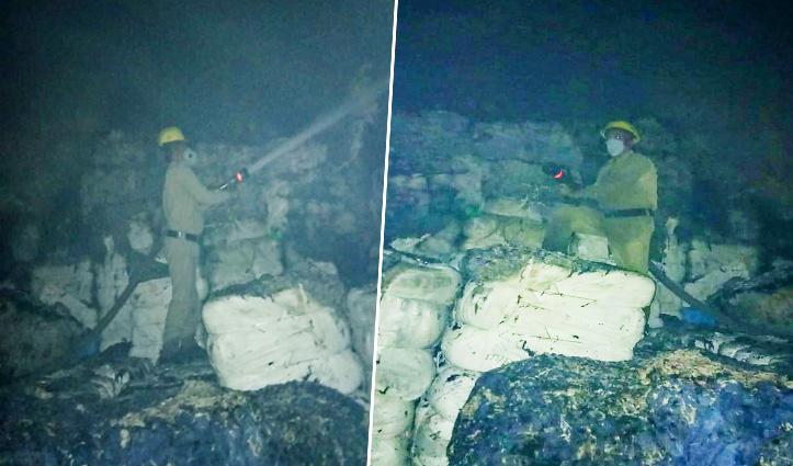 Kalaamb में धागा बनाने वाली फैक्टरी में भीषण अग्निकांड, लाखों का नुकसान