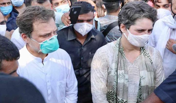 पर्सनल बेल बॉन्ड पर #UP_Police की हिरासत से छूटे राहुल-प्रियंका; दिल्ली रवाना