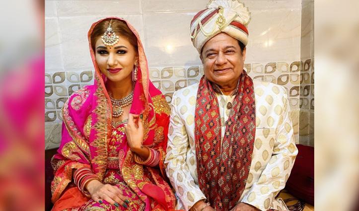 30 साल की जसलीन और 67 वर्षीय अनूप जलोटा की #Wedding_photos वायरल, फैन्स ने पूछा…