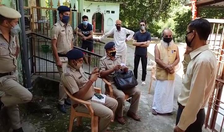 जवालीः मंदिर से माता की मूर्ति और गहने चोरी, जांच में जुटी Police
