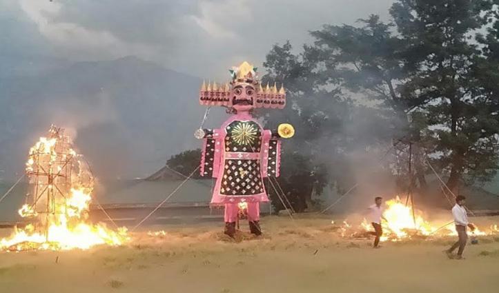#Corona संकट में फीका रहा #Dussehra, पुतले तो जले पर औपचारिकता ही निभाई
