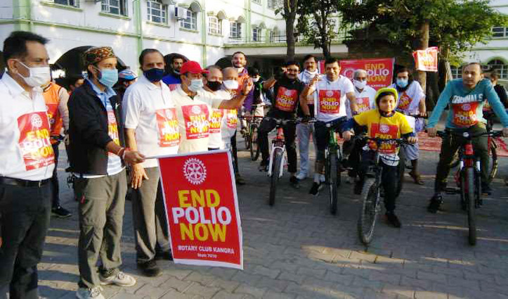 #Polio को जड़ से मिटाने के लिए दौड़ा कांगड़ा, SDM भी बने साइकिल रैली का हिस्सा